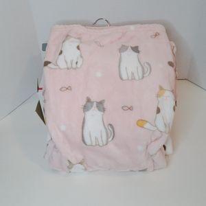 Super Soft & Cute Pink Plush Cat Oversized Throw …